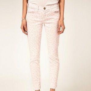Leopard Print Current Elliott Stiletto Jeans